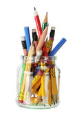 Pencils in Glass Jar — Stock Photo
