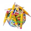 Stock Photo: Pencils and Rubberband Ball