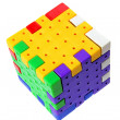 Stock Photo: Plastic Puzzle Cube