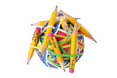 Pencils and Rubberband Ball — 图库照片