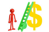 Miniature Figure with Dollar Sign — Stock Photo