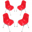 Red PVC Chairs — Stock Photo