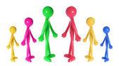 Miniature Rubber Figures — Stock Photo