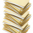 Stack of Manila File Folders — Stock Photo
