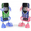 Stock Photo: Mobile Phones on Holders