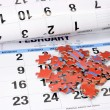 Jigsaw Puzzle on Calendar — Stock Photo #8385763