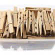 Clothes Pegs in Box — Foto Stock