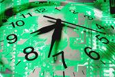 Horloge et circuit imprimé — Photo