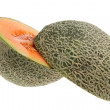 Rock Melon Cut in Half — Stock Photo