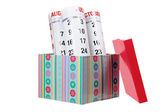 Scatola regalo e calendario — Foto Stock
