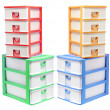 Stock Photo: Plastic Storage Drawers