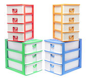 Plastic Storage Drawers — 图库照片