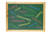 Blackboard with Business Concepts — Stock Photo