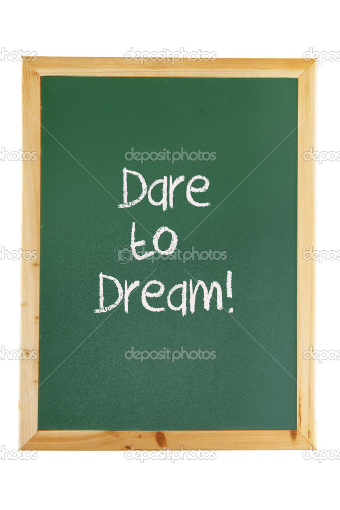 Blackboard with Inspiration on White Background — Stock Photo #9903187