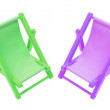 Miniature Deckchairs — Stock Photo