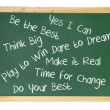 Blackboard with Inspiration Messages — Foto de Stock