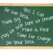 Blackboard with Inspiration Messages — Stock Photo #9979245