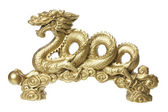 Golden Dragon Figurine — Stock Photo