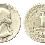 Quarter Dollar Coin of USA of 1950 — Stock Photo #7999187