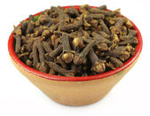 Cloves on a clay pot — Stock Photo