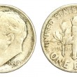One Dime Coin of USA of 1946 — Stock Photo