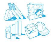 Některé objekty — Stock vektor