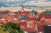 Housetops of the old houses in the sity — Stock Photo