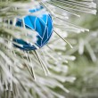 Stock Photo: Blue Christmas Ornament