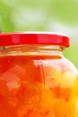 Jar with jam — Stock Photo