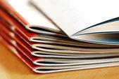 Magazines stack — Stock Photo