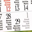 Calendar of leap year, February — Stock Photo