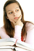 Teenage girl thinking — Stock Photo