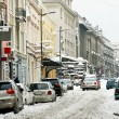 Winter Belgrade street — Stock Photo
