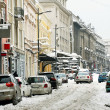 Winter Belgrade street - Stock Photo
