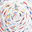 Stock Photo: Spiral made ??of rolled paper