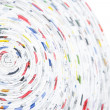 Spiral made ??of rolled paper — Stock Photo