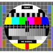 Stock Photo: Tv color test pattern