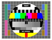 Tv color test pattern — Stock Photo