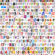 Alphabet with 516 letters, numbers, symbols — Foto Stock