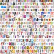 Alphabet with 516 letters, numbers, symbols — Stock Photo