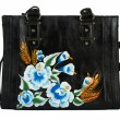 A floral pattern women hand bag — Stock fotografie