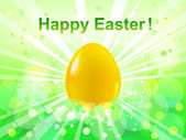 Easter green bokeh background. Happy Easter — Wektor stockowy