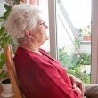 Lonely old woman — Stock Photo #8600925
