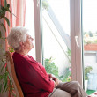 Lonely old woman — Stock Photo #8600942