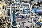 Jet engine innards — Stock Photo