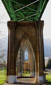 Sotto St johns ponte profonda dof — Foto Stock