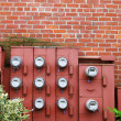 Stock Photo: Ten Electric Meters