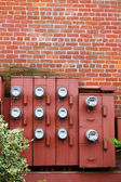 Ten Electric Meters — Stock Photo