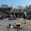 Street Performer in Covent Garden in London - Stock Photo