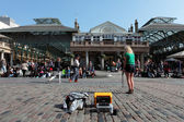 Street Performer in Covent Garden in London — Stock Photo